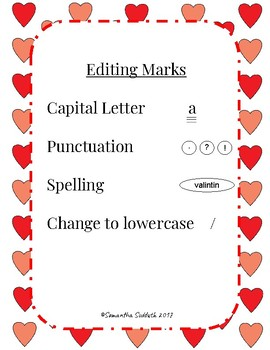 Valentine Editing Activity