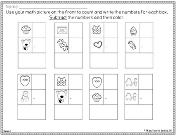 Valentine Edition* Color, Count, Tally & Do- Instant and Interactive Math