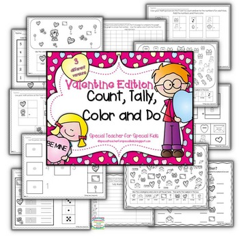 Valentine Edition* Color, Count, Tally & Do