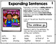 Valentine Expanding Sentences for Kindergarten and 1st Grade