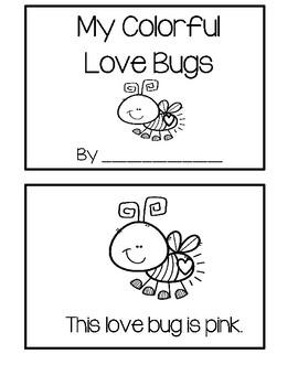 Valentine Emergent Reader - Love Bugs