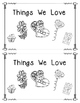 Valentine Emergent Reader:  Things We Love