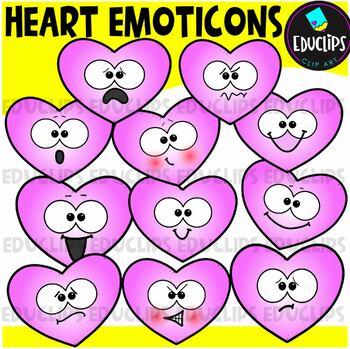 Valentine Emoticons Clip Art Bundle {Educlips Clipart}