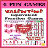 Valentine's Day Equivalent Fraction Games