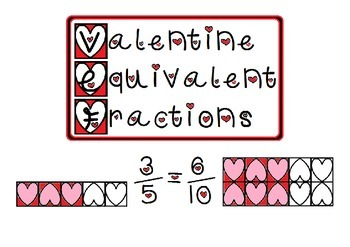 Valentine Equivalent Fractions