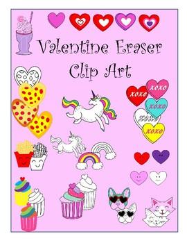 Valentine Eraser Clip Art