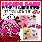 Valentine Escape Room 3rd grade Math Skills