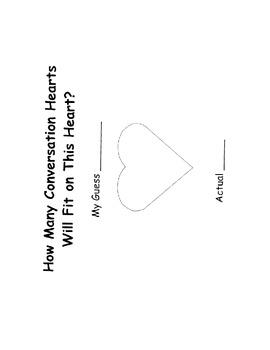 Valentine Estimation Recording Sheet