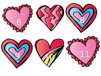 Valentine Even & Odd Number Sort