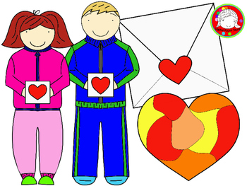 Valentine Exchange Clipart Set (Personal & Commercial Use)