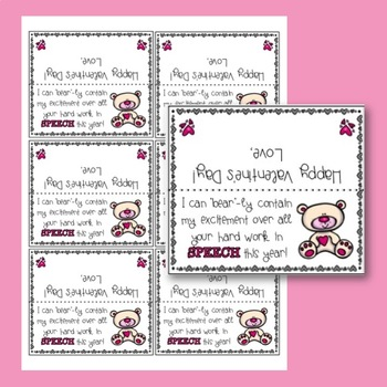 Valentine Exchange FREEBIE for Speech Therapists and Teachers