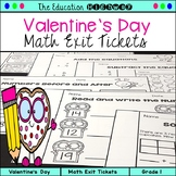 Valentine Exit Tickets | Grade 1