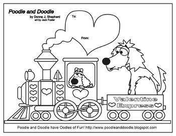 Valentine Express - Coloring Page