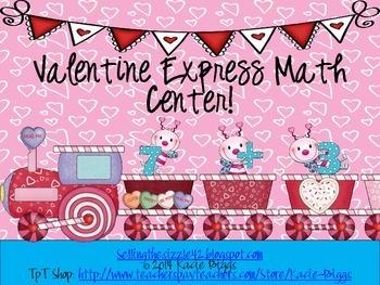 Valentine Express! Differentiated Math Center