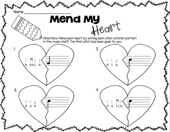 Valentine FREE SAMPLE Worksheets