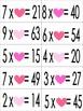 Valentine FREEBIE! Pocket Chart Math Centers (Sort: Missing Factors)
