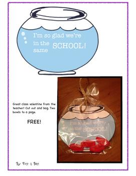 Valentine FREEBIE for classroom gift!