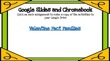 Valentine Fact Families-A Digital Math Center (Compatible with Google Apps
