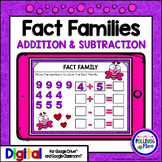 Valentine Fact Families - Add and Subtract for Google Drive and Google Classroom