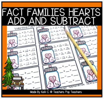 Valentine Fact Families for Addition and Subtraction