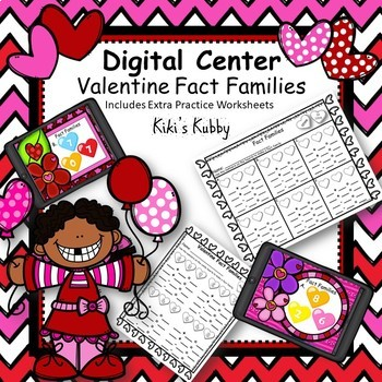 Valentine Fact Families: Digital Center
