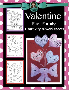 Valentine Fact Family Craft & Worksheets