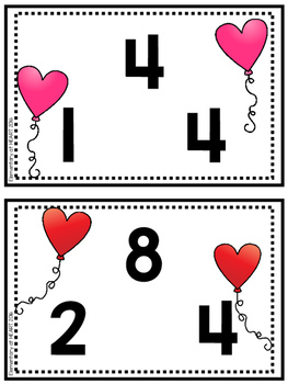 Valentine Fact Family Task Cards Multiplication and Division (Third and Fourth)