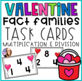 Valentine Fact Family Task Cards Multiplication and Divisi