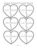 Valentine Factoring Trinomials Matching - A
