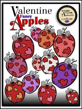 Valentine Fancy Apples Clipart