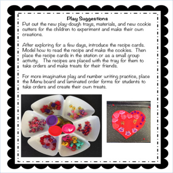 Valentine/February Play-dough Bakery:  Math and Dramatic Play