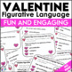 Valentine's Day Activity Figurative Language Task Cards
