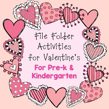 Valentine File Folder Activities for Preschool and Kindergarten