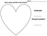 Valentine Fill in the Heart Estimate Activity