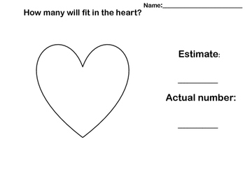 Valentine Fill in the Heart Estimate Activity