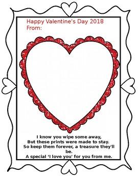 Valentine Fingerprint Poem Freebie