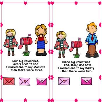 Valentine: Five Big Valentines:  Adapted and Interactive book and activities