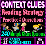 Context Clues Worksheets. Reading Strategies Practice. 240