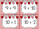 Valentine Flashcards - Addition of Integers