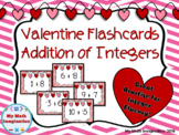 Valentine Flashcards - Addition of Integers