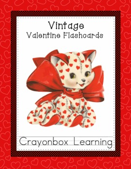 Valentine Flashcards - Vintage Design -  Set 1