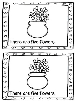 Valentine Flower Counting Book