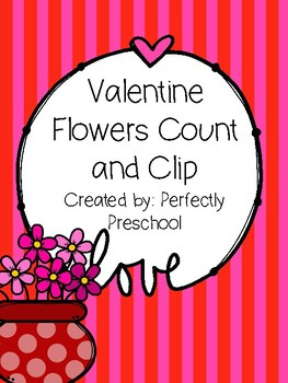Valentine Flowers Count and Clip {Dollar Deal}