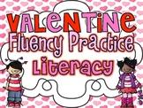 Valentine Fluency Practice {Letter Naming and Sound Fluency}
