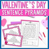 Reading Fluency Practice - Valentine's Day Pyramid Sentences