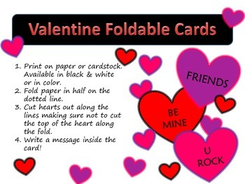 Valentine Foldable Cards