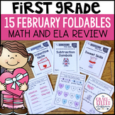 Math and ELA Review Valentine Foldable Mini-Books {1st Grade}