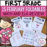 Math and ELA Review Valentine Foldable Mini-Books {1st Grade}