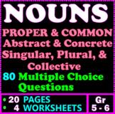 NOUNS. Common, Proper, Abstract, Concrete, Compound, Colle