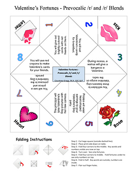 Valentine Fortunes for Speech Therapy